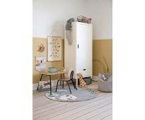 Hvitt klesskap med en dør - Sebra