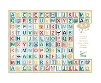 Klistremerker, alfabetet - Djeco