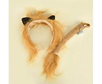 Kostyme løve, hårbøyle og hale