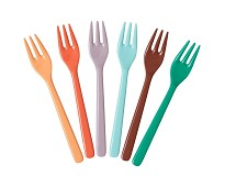 6 stk gafler i melamin, Disko - Rice