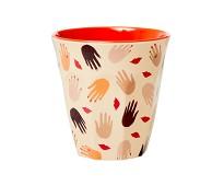Kopp i melamin med hender, 9 cm - Rice
