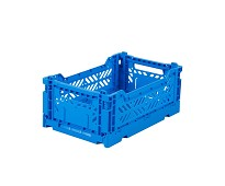 Foldbar oppbevaringskasse Electric blue 40x30