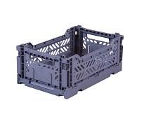 Foldbar oppbevaringskasse Blue gray 27x17 - Aykasa