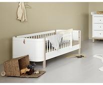 Mini+ hvit/eik juniorseng - Oliver Furniture