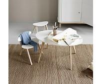 Barnekrakk Wood, hvit med eikeben fra Oliver Furni