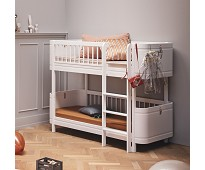 Wood Mini+, hvit lav køyeseng - Oliver Furniture