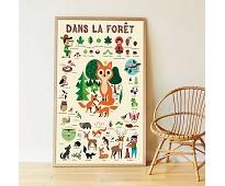 Plakat og klistremerker, skogsdyr - Poppik