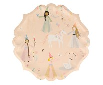 Papptallerken med prinsesse, 8 stk - Meri Meri