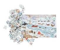 Puslespill, arktisk, 96 brikker - Moulin Roty