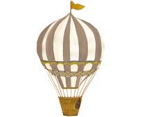 Veggdekor, stor beige luftballong