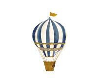 Veggdekor, liten blå luftballong