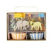 Cupcake kit, safaridyr 24 stk - Meri Meri