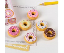 Viskelær, donuts 6 stk