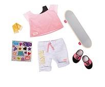 Skateboard, dukkeklær - Our Generation