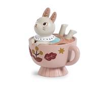 Sparebøsse, kanin i kopp - Moulin Roty