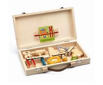 Verktøyskoffert med verktøy i tre - Djeco