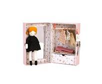 Dukke og dukkeklær i koffert - Moulin Roty