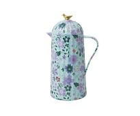 Blå termokanne med blomster - Rice