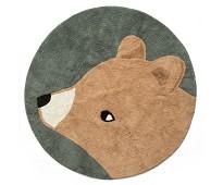 Vevet gulvteppe med bjørn, Woody - Sebra