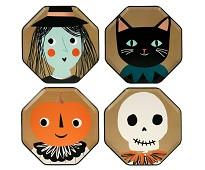 Papptallerken Halloween 8 stk - Meri Meri