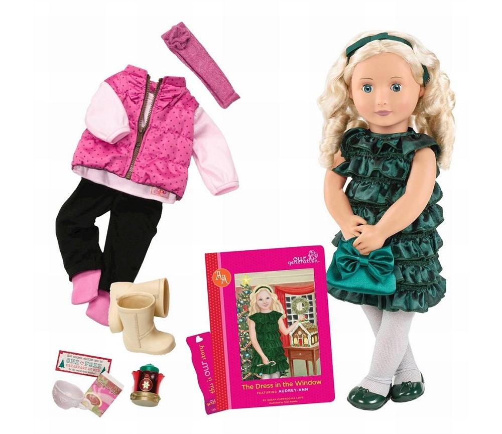 2ef105c5 Audray Ann, dukke med 2 sett klær - Our Generation   Sprell - veldig ...